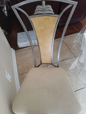 Glass table with 4 chairs for Sale in Hiram, GA