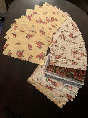 """Lot of Fabric (40 pieces, each 8.5"""" x 6"""") for Sale in Cypress, TX"""