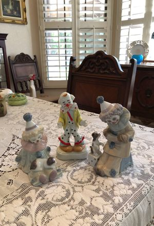 Lladro clown figurines and one other for Sale in Phoenix, AZ