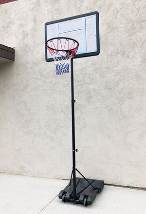 "New $65 Junior Kids Sports Basketball Hoop 31x23"" Backboard, Adjustable Rim Height 5' to 7' for Sale in El Monte, CA"