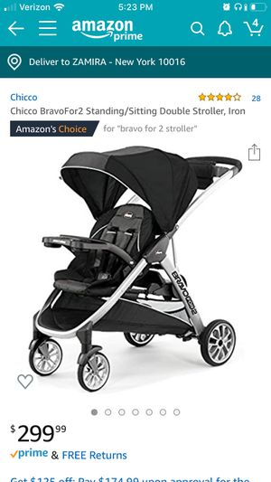 Bravo for 2 double stroller for Sale in New York, NY