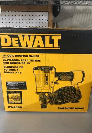 Dewalt coil roofing nailer for Sale in Orlando, FL