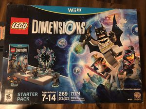 LEGO Dimensions WiiU Starter Pack. 269pcs. New / Sealed for Sale in San Bernardino, CA