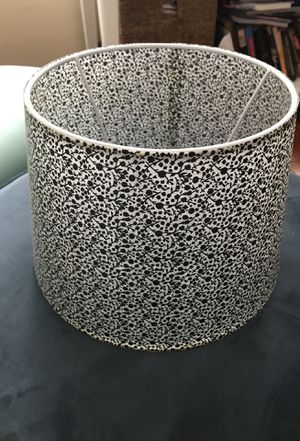 Black & White Lampshade, never used! for Sale in Alexandria, VA