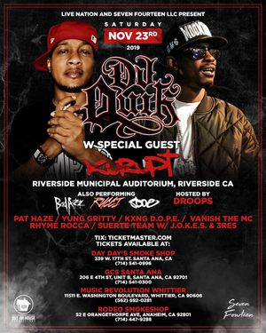 DJ Quik And Kurupt Tickets for Sale in Covina, CA