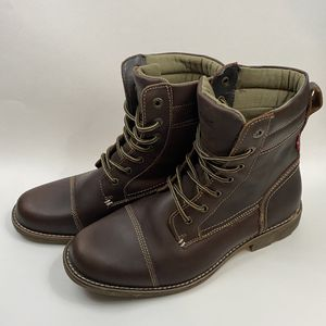 Levi's Men's Brown Leather High Top Boots - Size 10.5 Men for Sale in Hurst, TX