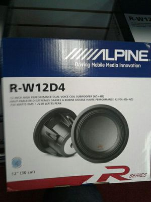"""Alpine R Series Car Audio Subwoofer Driver 12"""" Inch 2250watts 4 Ohm 🚨 90 Day Payment Options 🚨 We Beat Downtown Prices for Sale in Los Angeles, CA"""