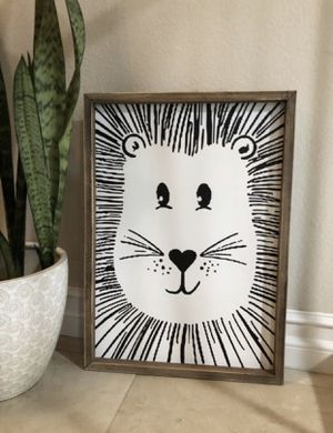 Lion Wood Canvas Wall Art for Sale in Orange, CA