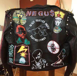 "Motorcycle jacket ""black power"" for Sale in Ann Arbor, MI"
