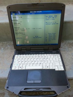 General dynamics gd8000 rugged laptop notebook toughbook computer for Sale in San Diego, CA