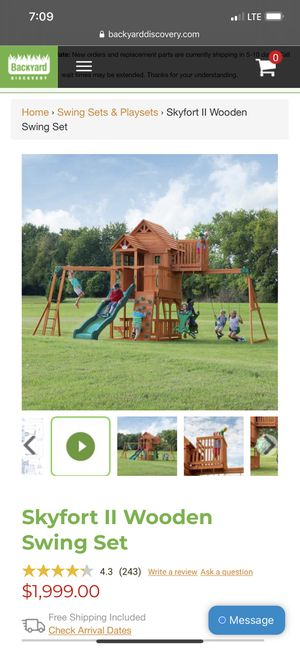 New Swing Sets for Sale in Dundalk, MD