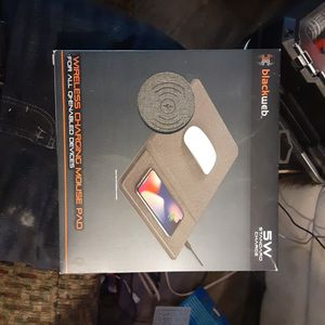 Black web 5w standard charge wireless charging mouse pad for Sale in Trenton, IL