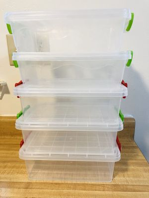 """Small container organized with Clip Boxes! 11""""x7""""x3.5"""" L xWxH (pick up only) for Sale in Alexandria, VA"""