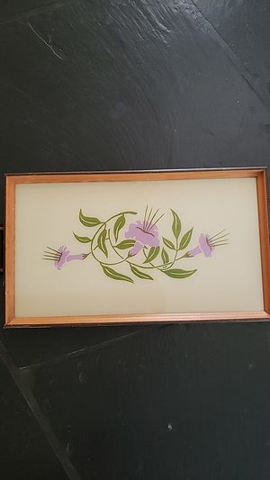 Antique wooden tray with glass frame and handles for Sale in Fullerton, CA