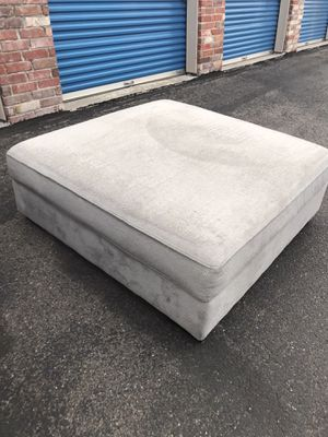 Grey ottoman large for Sale in Westminster, CO