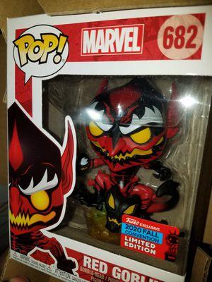 Funko pop red goblin marvel nycc for Sale in Ontario, CA