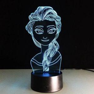Princess Elsa 3D Nightlight Table Lamp for Sale in Odessa, TX