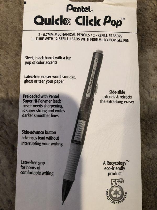 Pentel quick click mechanical pencils