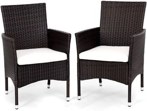 2 Patio Chairs For Outdoor Set with Arms Modern Furniture Armchair Set with Removable Cushions for Sale in Santa Clarita, CA