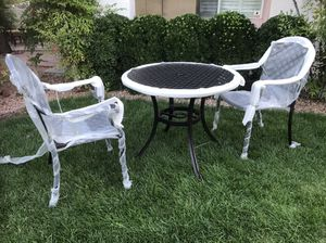 3-Piece Cast Aluminum Outdoor Dining Chair & Table, Patio Furniture NEW! for Sale in Las Vegas, NV