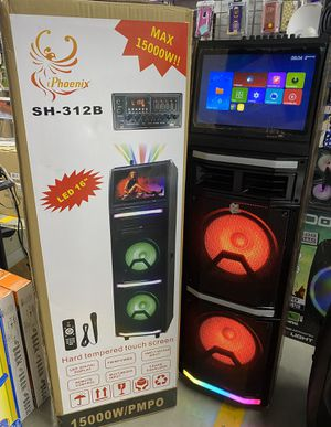 Heavy Duty Portable Bluetooth Party Speaker Touch Screen Tablet for Sale in Chicago, IL