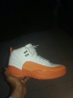 Orange custom jordan retro 12 for Sale in West Palm Beach, FL