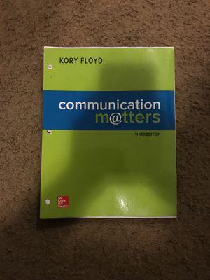 Communication matters third edition Kory Floyd for Sale in Harrisonburg, VA