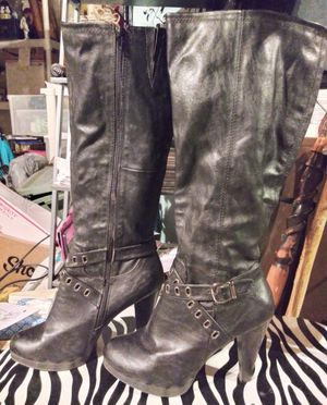 Size 11 Knee High Black Leather Boots for Sale in St. Louis, MO
