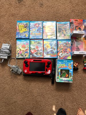 Nintendo Wii U console with games and amibos for Sale in Phoenix, AZ