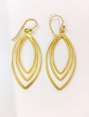 Sterling silver earrings plated with 24k gold for Sale in Baldwin Park, CA