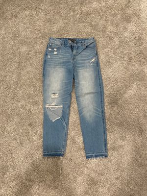 Abercrombie & Fitch boyfriend style light washed ripped jeans. Size: 26, length 27 for Sale in Vista, CA