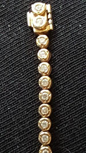14K GOLD 55 DIAMOND CLASSIC TENNIS BRACELET for Sale in Las Vegas, NV