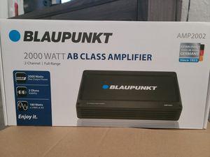 Blaupunkt 2 ch 2000watt amp with bass Controler for Sale in Corona, CA