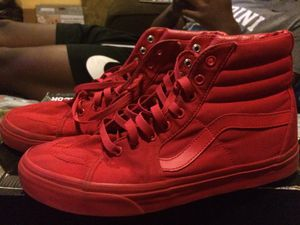 All red high top vans red October's for Sale in Long Pond, PA