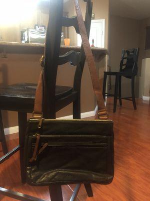 FOSSIL corey messenger bag , black leather for Sale in Las Vegas, NV