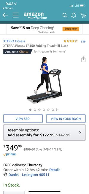 XTERRA Fitness TR150 Folding Treadmill Black, new for Sale in Lexington, KY