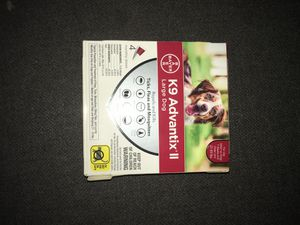 Bayer K9 ADVANTIX-2 Large Dog-1 Small dog-4 monthly doses- 1 Bayer Seresto collar 8 months protection for Sale in Fresno, CA