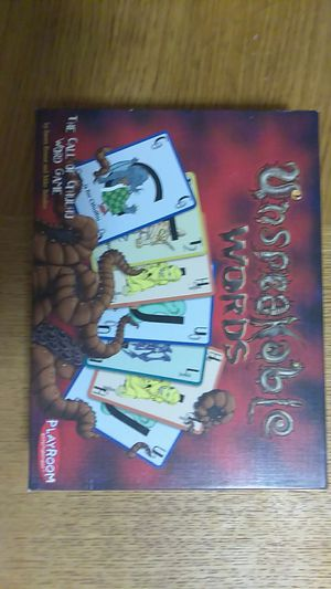 Playroom Entertainment Unspeakable Words Board Game for Sale in Washington, DC