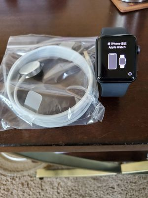 Apple Watch Series 3 GPS + CELLULAR 42MM Space Gray Aluminum Sports Band for Sale in McDonough, GA