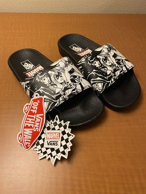 Vans Off The Wall x Marvel Womens Slides Size 5 for Sale in Las Vegas, NV