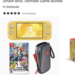 Nintendo Switch Lite Console & Super Smash Bros. Ultimate Game Bundle for Sale in Beaverton, OR