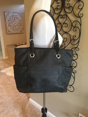 MK Michael Kors Black Gray Silver accents Purse Bag for Sale in Lawrenceville, GA