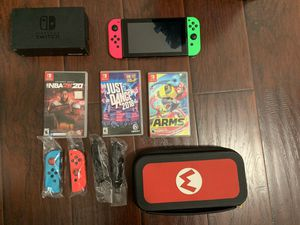 Nintendo Switch with accessories for Sale in Chandler, AZ