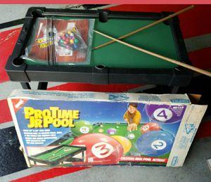 "NEW IN BOX Vintage Miniature Plastic Pool Table, balls and 2 sticks 20""x37"" for Sale in Morton Grove, IL"