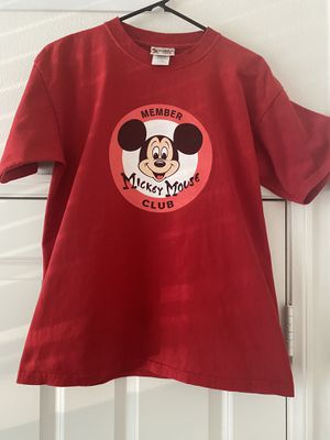 Mickey Mouse Club Member Red Shirt Walt Disney World Kids Length 27 Inches Pit to Pit 21 Inches for Sale in Irvine, CA