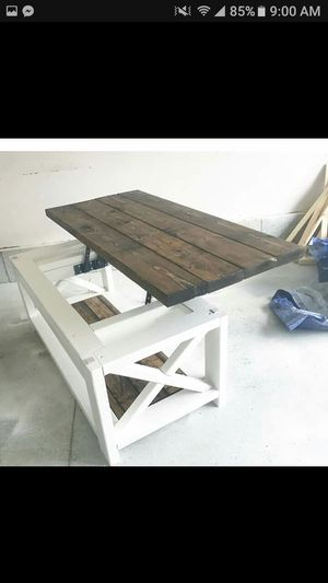 """Rustic lift top table 52""""x22"""" for Sale in Ayer, MA"""