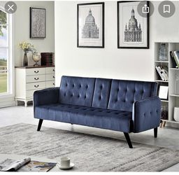 Blue futon for Sale in St. Louis,  MO