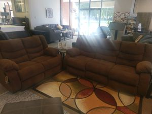 Brown Reclining Sofa and Love by Ashley NEW for Sale in US