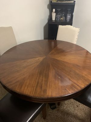 Wooden Table With Chairs Included for Sale in West Jordan, UT