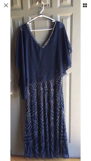 J Kara Dress Beaded Short Sleeve Color Navy Blue Size 12 for Sale in Mokena, IL
